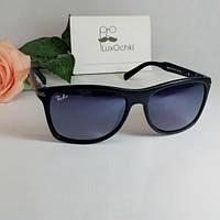 Стильные мужские солнцезащитные очки Ray Ban квадратные в матовой оправе