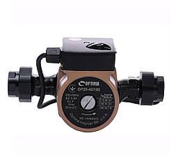 Насос циркуляционный Optima OP25-40 180мм + гайки, + кабель с вилкой!