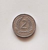 2 цента Восточные Карибы 2008 г., фото 1