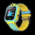 Детские умные часы (смарт часы с GPS + родительский контроль + фонарь)  Smart Baby T16, (Желтый), фото 2