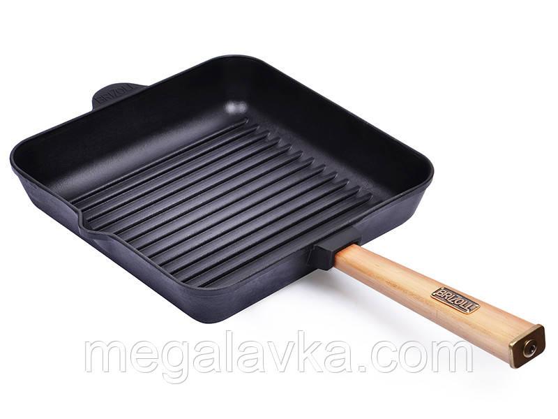 Сковорода гриль чугун 280х280х50 мм BRIZOLL O282850G-P