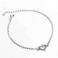 """Женский серебряный браслет 925 пробы с кристаллами циркония """"Silver Heart"""", фото 1"""