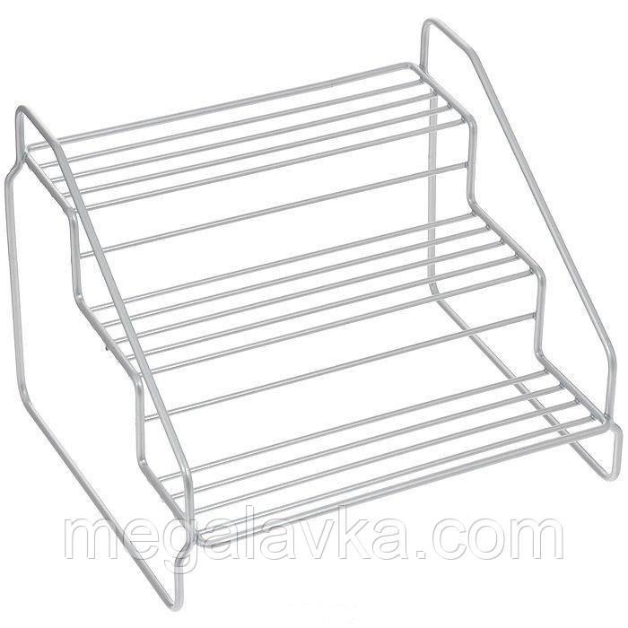 Підставка для спецій METALTEX Steppo 3 рівня 20х18х15 см сірий металік 364623