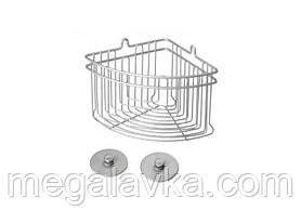 Полку METALTEX Artic кутова для ванної сірий матовий металлик Frost 402710