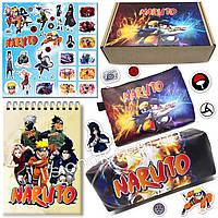 Бокс Наруто (пенал, блокнот, кошелек, наклейки) – отличный подарок любителям аниме-сериала Naruto