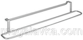 Тримач для рушника Metaltex Oasis 38х8х6 см сірий металік 402304