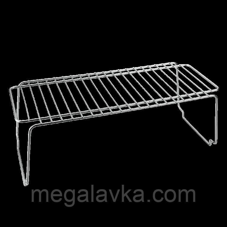Полка для специй кухонная 45х19х18 см серый металлик METALTEX Polo 362000