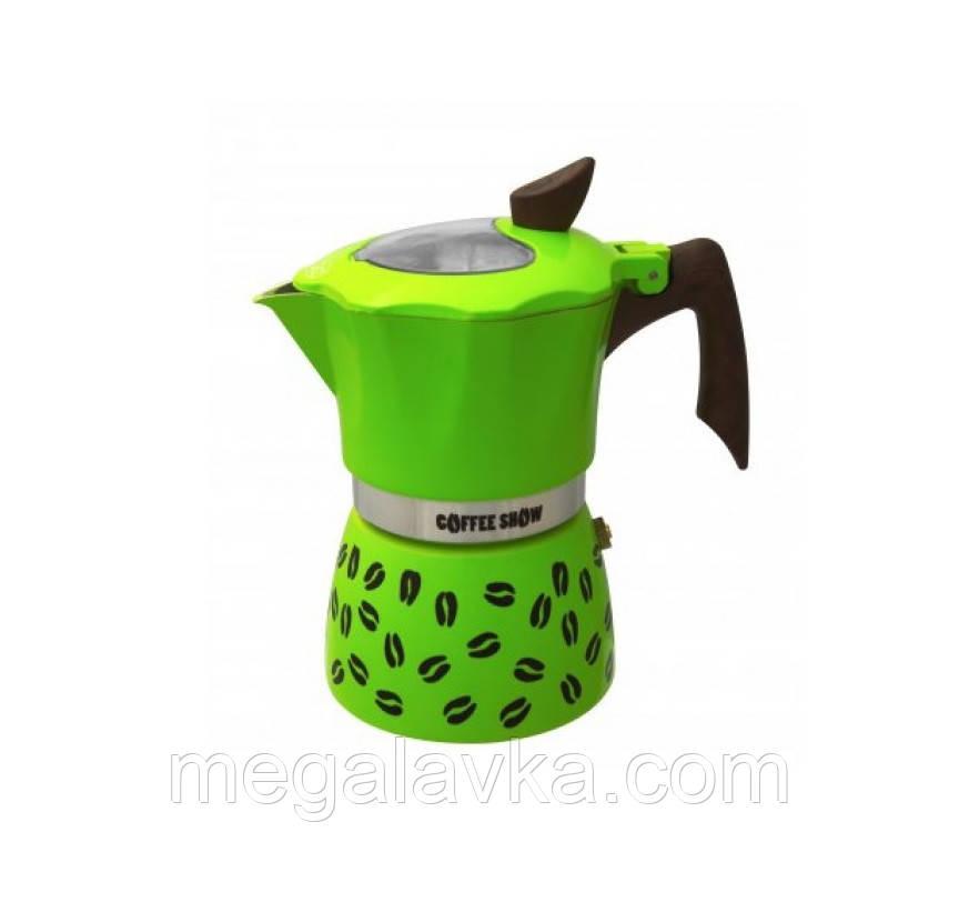Гейзерна кавоварка GAT COFFEE SHOW салатова на 6 чашок (104606 салат)