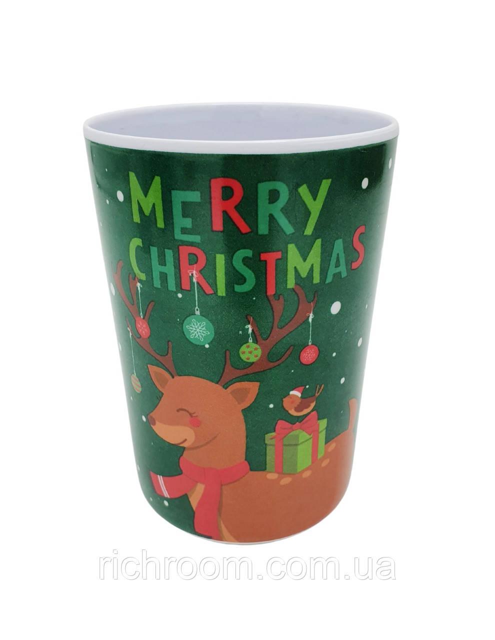 Пластиковий новорічний склянку Merry Christmas 250 мл Edeka