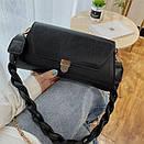 Модная женская сумочка с плетеной ручкой на плечо Bizz, фото 6