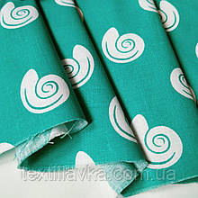 Ткань хлопок для рукоделия ракушки