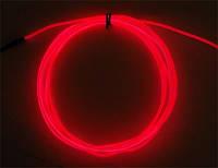 Неоновый провод красный 3-го поколения 2,6 мм, (розница, опт)