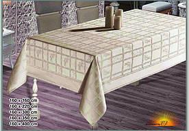 Скатертина тефлонова прямокутна Maison Royale Bamboo 160х220 Beyaz( білий), Туреччина