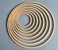Деревянная заготовка, основа - кольцо для ловца снов, мобиля, макраме. Диаметр 40 см, толщина 8 мм