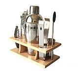 Подарунковий набір бармена для приготування коктейлів 350 мл. 9 предметів, фото 5