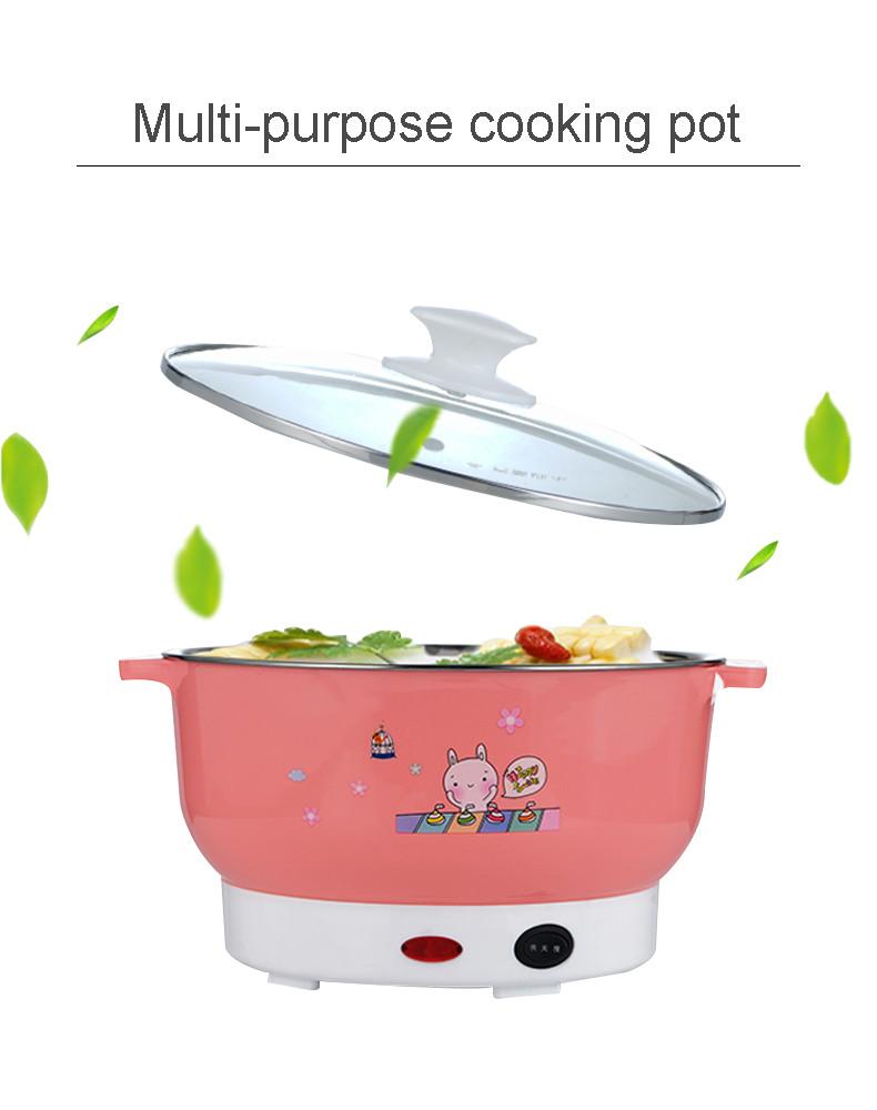 Багатофункціональна міні электрокастрюля сковорода morhing wok вок 2 літри 600 ватт бежева