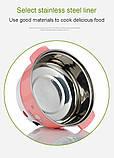 Багатофункціональна міні электрокастрюля сковорода morhing wok вок 2 літри 600 ватт бежева, фото 4