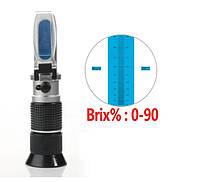 Рефрактометр RZ 117 тестер сахаристости 0 ~ 90 Brix для меда, сиропа, джема (RZ117)