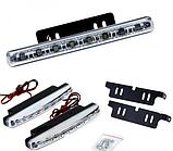 Денні ходові вогні денного світла DRL комплект (2 шт) 8 LED, фото 2