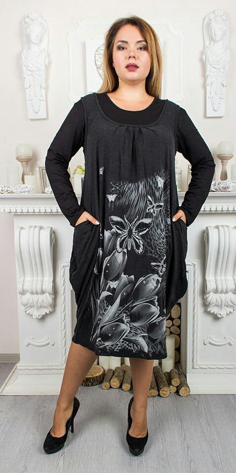 Сукня Обманка 1573 Чорний