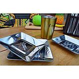 Квадратные тарелки из нержавеющей стали на 4 персоны, фото 4