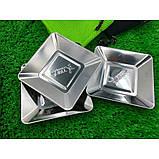 Квадратные тарелки из нержавеющей стали на 4 персоны, фото 5