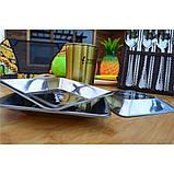 Квадратные тарелки из нержавеющей стали на 4 персоны, фото 7