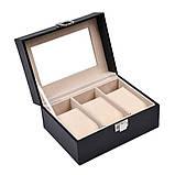 Скринька шкатулка для зберігання годин на 3 відділення, фото 4