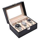 Скринька шкатулка для зберігання годин на 3 відділення, фото 3