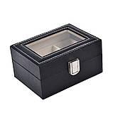 Скринька шкатулка для зберігання годин на 3 відділення, фото 5
