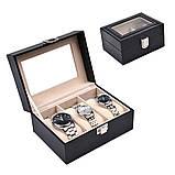 Скринька шкатулка для зберігання годин на 3 відділення, фото 2