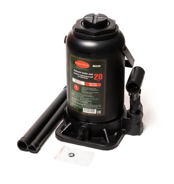 Домкрат бутылочный 20т с клапаном (высота подхвата - 235мм, высота подъема - 440мм, ход штока - 205мм)т