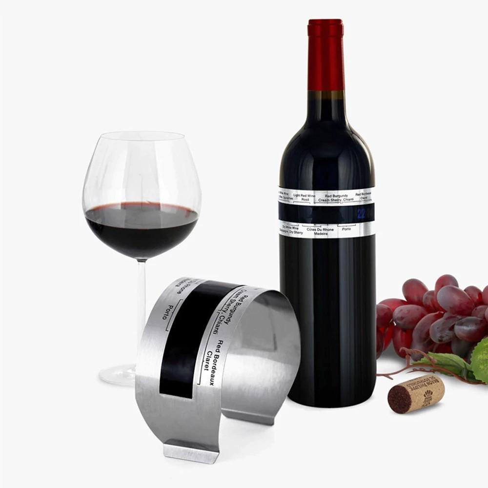 Винний градусник, Вимірювач температури для пляшок вина, з нержавіючої сталі