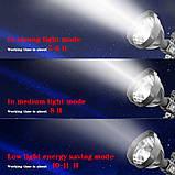 Ліхтар на штативі,прожектор ручної ударостійкий акумуляторний,фонать з підставкою,туристичний потужний ліхтар, фото 9
