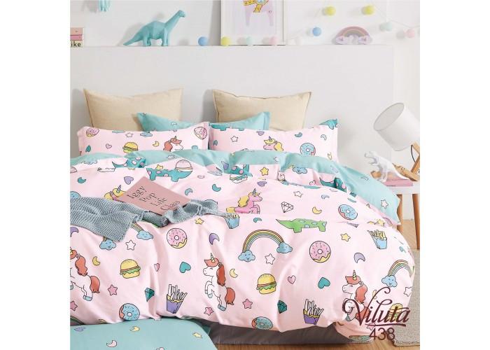 Комплект постельного белья в кроватку из сатина ТМ Вилюта 438