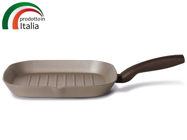 Сковорода TVS Gustosa 28х28 см, гриль