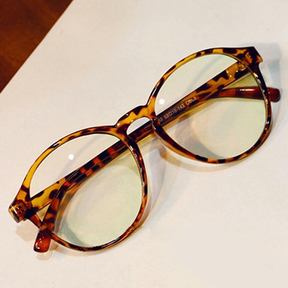 Вінтажні окуляри для іміджу з прозорою лінзою очки для имиджа с прозрачной линзой
