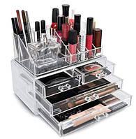 Настольный акриловый органайзер для косметики Cosmetic Storage Box