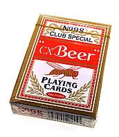 """Карты игральные (98) """"Beer"""" (9х6х1,8 см)(Пластиковое покрытие)"""