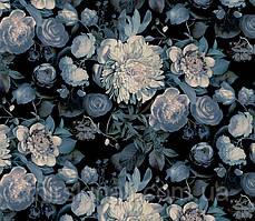 Квіти на чорному №1