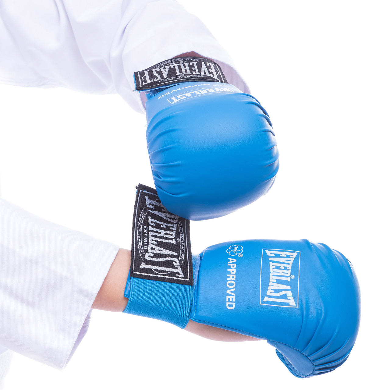 Перчатки для каратэ на резинке EVERLAST синие BO-3956, L