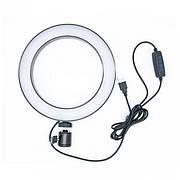 Кільцева LED лампа USB Ring Light діаметр 20см | Управління на проводі