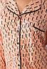 Піжама Pelin піжамний костюм Love персик S, фото 2