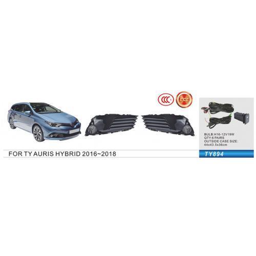 Фары доп.модель Toyota Auris Hybrid 2016-18/TY-894A/H11-55W/эл.проводка (TY-894A-W)