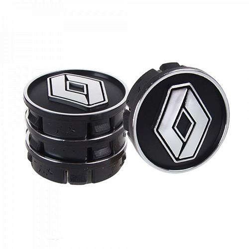 Заглушка колесного диска Renault 60x55  черный ABS пластик (4шт.) 50938 (50938)