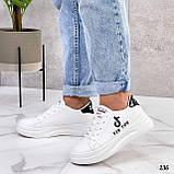 ТІЛЬКИ 25 см! Жіночі кросівки білі Tik Tok еко-шкіра весна / літо/ осінь, фото 4