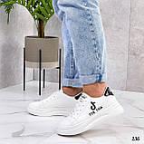 ТІЛЬКИ 25 см! Жіночі кросівки білі Tik Tok еко-шкіра весна / літо/ осінь, фото 5