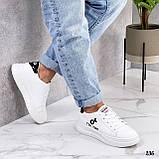 ТІЛЬКИ 25 см! Жіночі кросівки білі Tik Tok еко-шкіра весна / літо/ осінь, фото 6