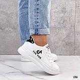 ТІЛЬКИ 25 см! Жіночі кросівки білі Tik Tok еко-шкіра весна / літо/ осінь, фото 7