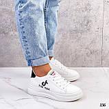 ТІЛЬКИ 25 см! Жіночі кросівки білі Tik Tok еко-шкіра весна / літо/ осінь, фото 8